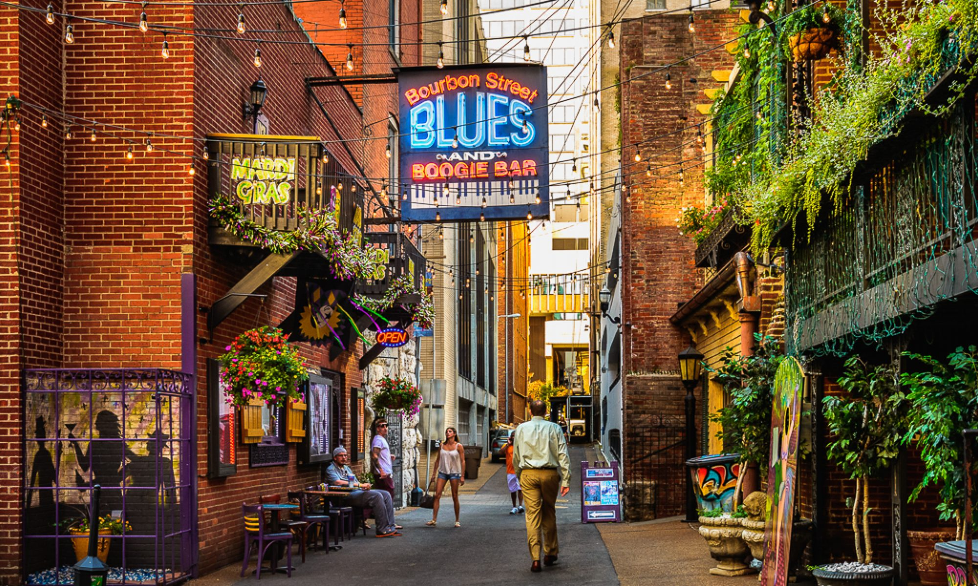 The Printer's Alley in Nashville