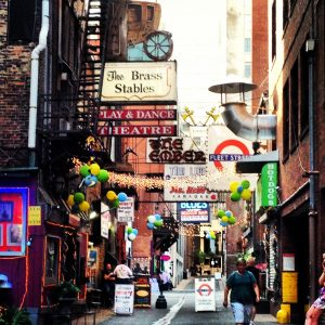 Historic Printer's Alley in Nashville