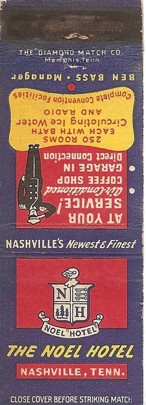 Hotel Noel Nashville Matchbook