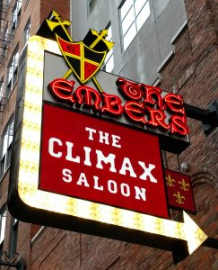 climax saloon sign printers alley nashville tennessee